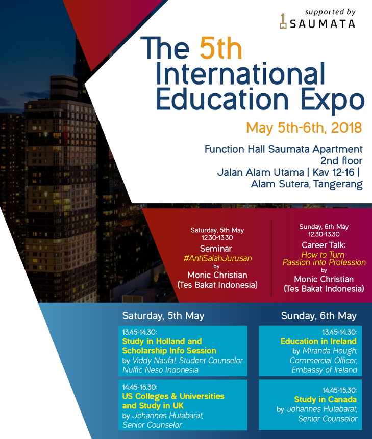 MEDIA 5th International Education Expo flyer